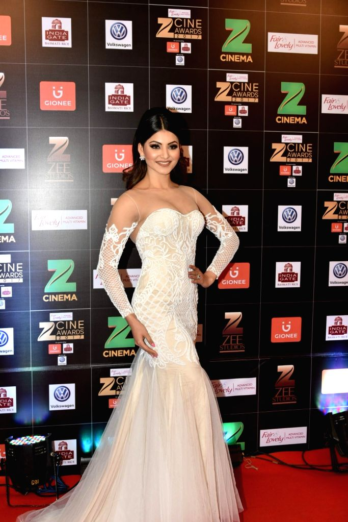 Actress Urvashi Rautela during the Fair & Lovely Zee Cine Awards 2017 in Mumbai on March 11, 2017. - Urvashi Rautela