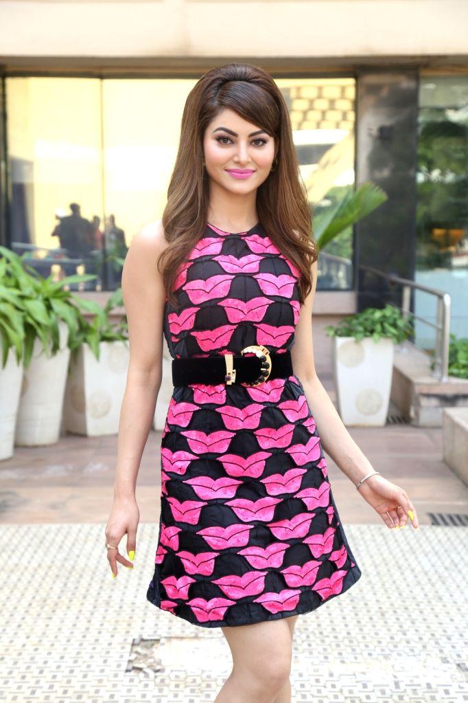 "Actress Urvashi Rautela during the promotions of her upcoming film ""Pagalpanti"" in Mumbai on Nov 14, 2019. - Urvashi Rautela"