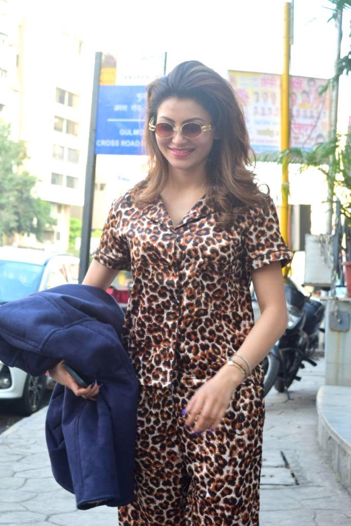 Actress Urvashi Rautela seen at Juhu in Mumbai on Nov 18, 2020. - Urvashi Rautela