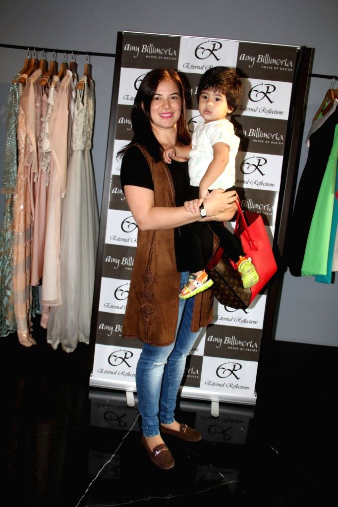 Actress Urvashi Sharma during the preview of fashion designer Amy Billimoria`s Festive Autumn/Winter 2015 Collection in Mumbai on Oct 14, 2015. - Urvashi Sharma