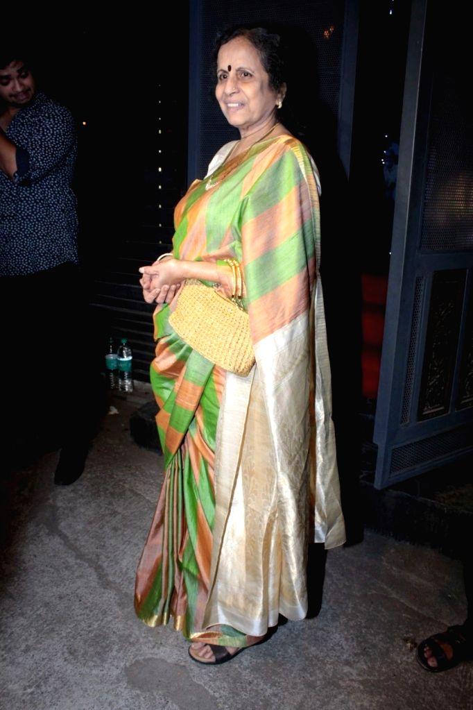 Actress  Usha Nadkarni during the success party of the film Ventilator in Mumbai on April 25, 2017. - Usha Nadkarni
