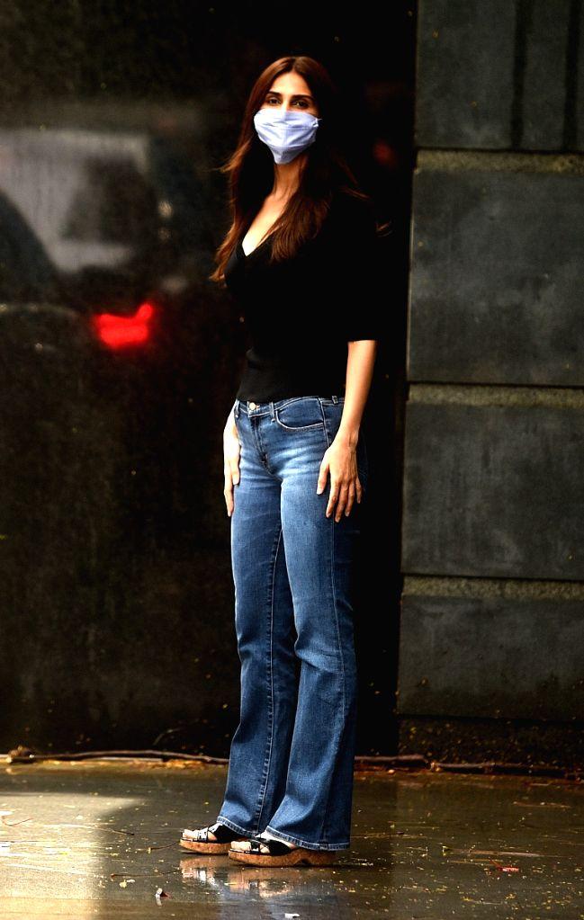 Actress Vaani Kapoor spotted at Pooja films office in Mumbai's Juhu on July 30, 2020. - Vaani Kapoor