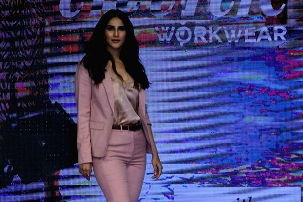 Actress Vaani Kapoor walks the ramp at the launch of the spring-summer collection of Marks & Spencer, in Mumbai on Feb 7, 2019. - Vaani Kapoor