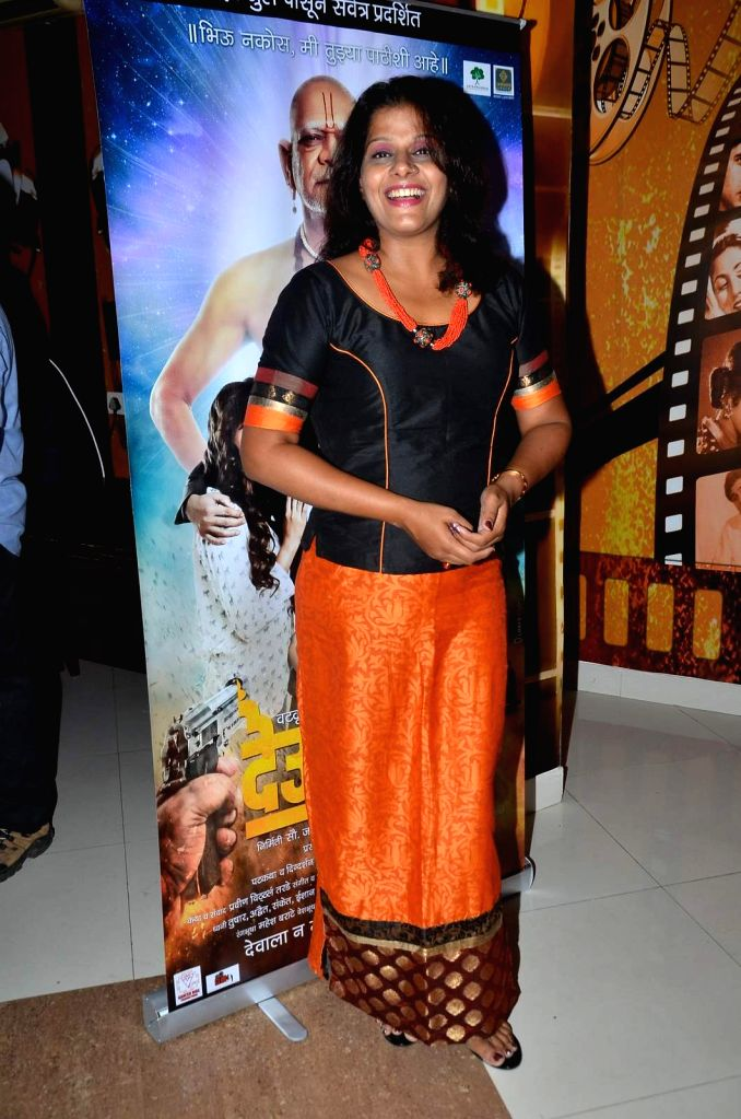 Actress Vaibhavi Deshpande during the trailer launch of Marathi film Deool Banda in Mumbai, on July 9, 2015. - Vaibhavi Deshpande