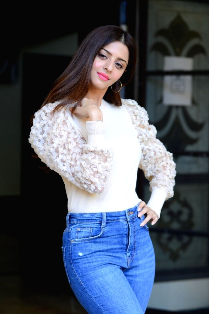 Actress Vedhika a interview in Hyderabad. - Vedhika