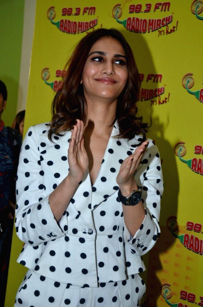 Actress Veena Kapoor during the promotion of film Befikre at Radio Mirchi studio in Mumbai, on Nov 28, 2016. - Veena Kapoor