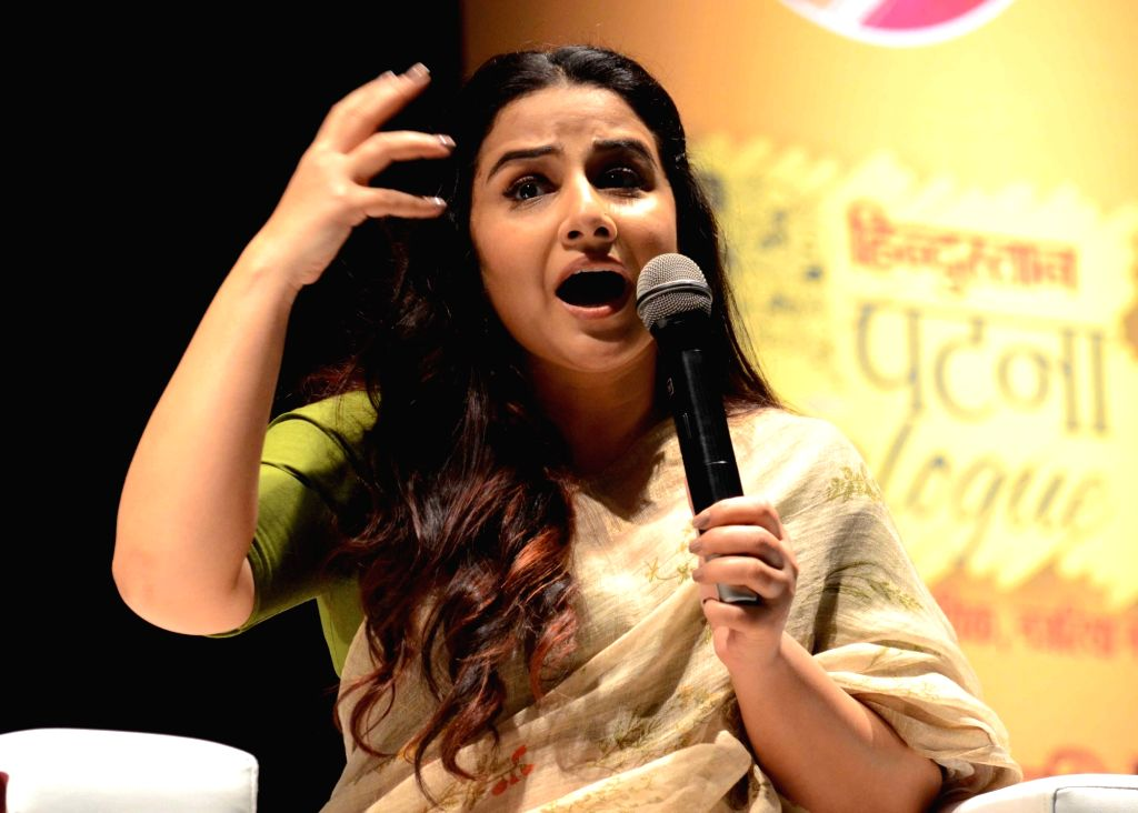 Actress Vidya Balan addresses during a programme in Patna, on March 15, 2019. - Vidya Balan