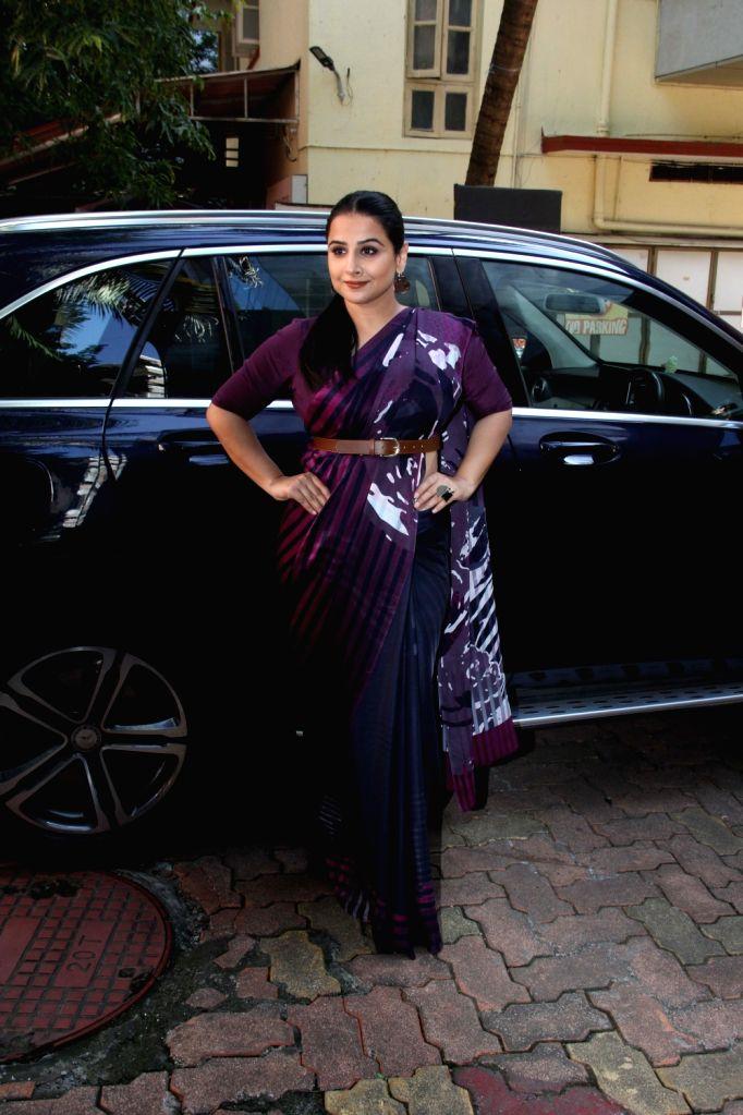 Actress Vidya Balan at the book launch on ISRO by author Minnie Vaid in Mumbai, on Aug 27, 2019. - Vidya Balan