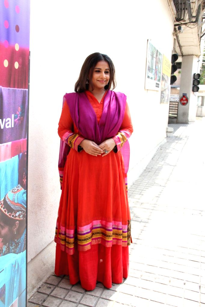 Actress Vidya Balan at the Jio MAMI 17th Mumbai Film Festival, in Mumbai, on Nov 2, 2015. Vidya Balan and Saleh Bakri are Jury Members for the International category. - Vidya Balan