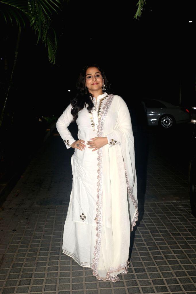 """Actress Vidya Balan at the screening of the upcoming film """"India's Most Wanted"""" in Mumbai, on May 22, 2019. - Vidya Balan"""