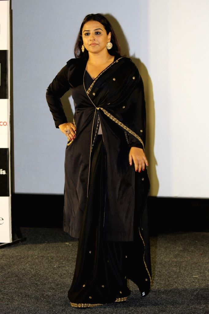 """Actress Vidya Balan at the trailer launch of her upcoming film """"Mission Mangal"""" in Mumbai, on July 18, 2019. - Vidya Balan"""