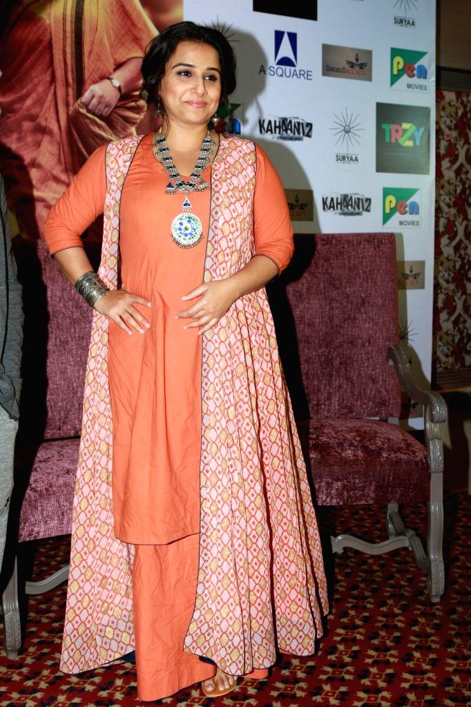 "Actress Vidya Balan during a press conference regarding their upcoming film ""Kahaani 2"" in New Delhi, on Nov 29, 2016. - Vidya Balan"