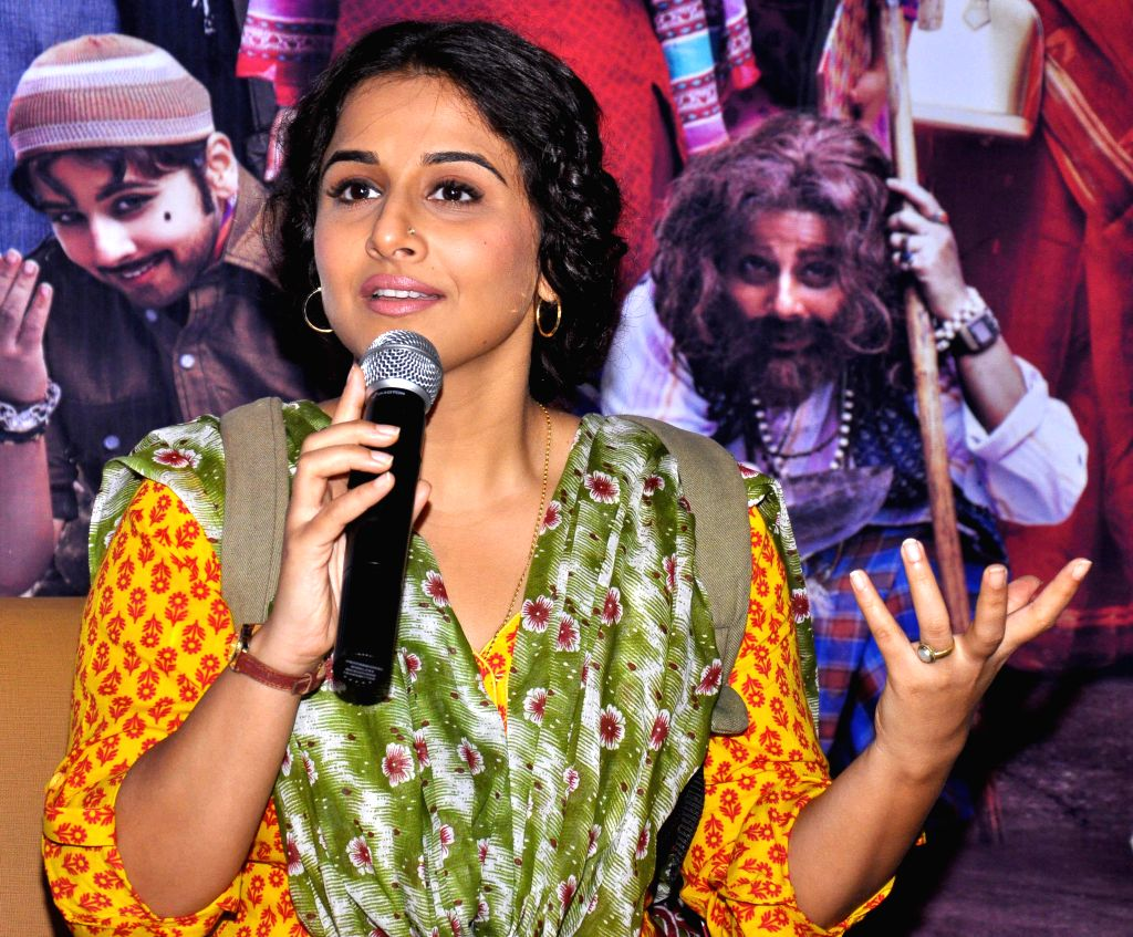 Actress Vidya Balan during a press conference to promote her upcoming film `Bobby Jasoos` in Jaipur on June 30, 2014. - Vidya Balan