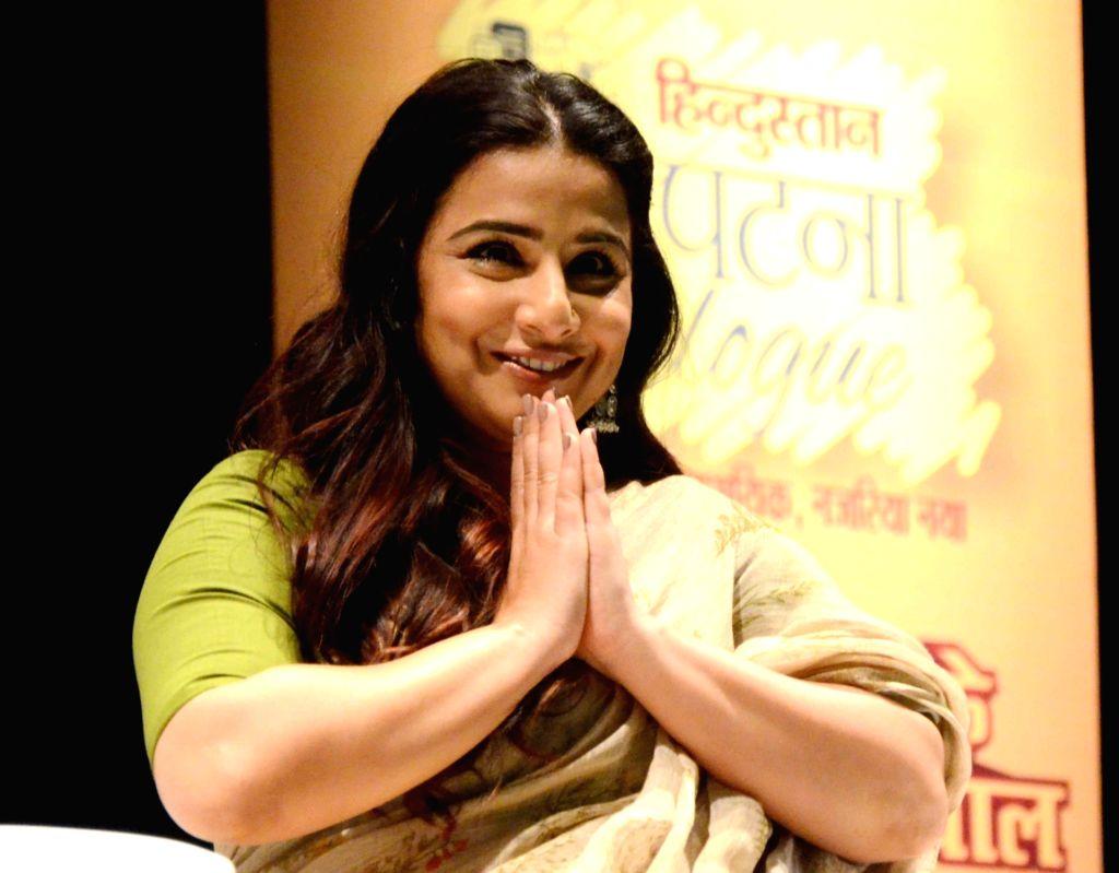 Actress Vidya Balan during a programme in Patna, on March 15, 2019. - Vidya Balan