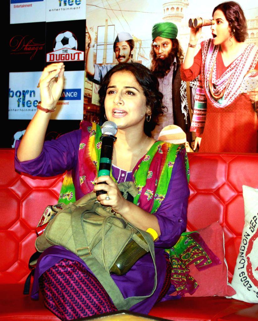 Actress Vidya Balan during promotion of film `Bobby Jasoos` in Kolkata on June 28, 2014. - Vidya Balan