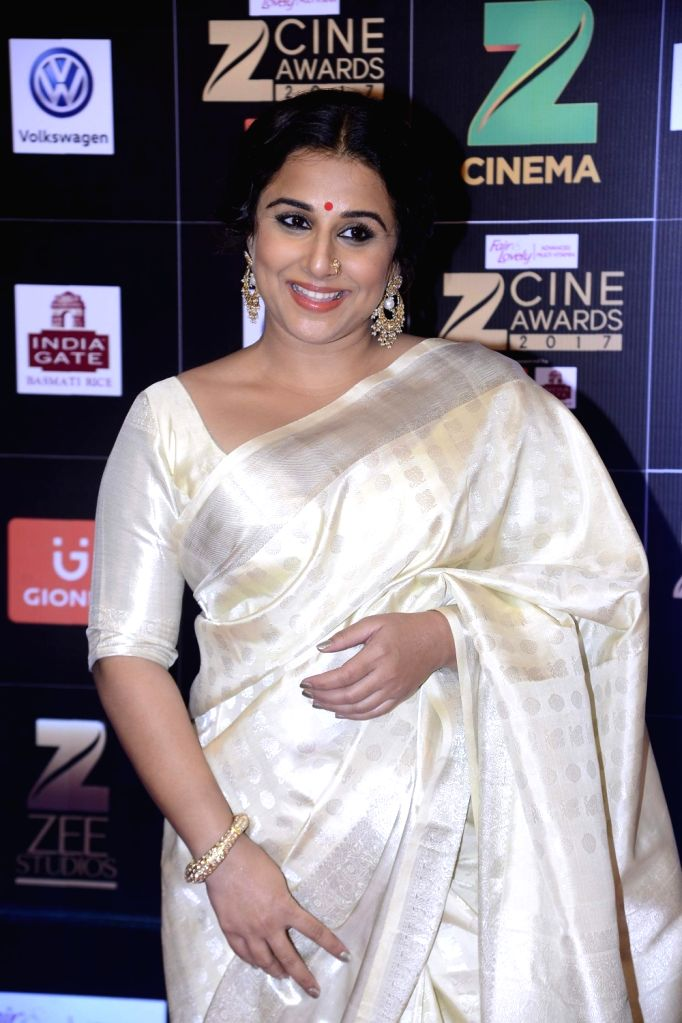 Actress Vidya Balan during the Fair & Lovely Zee Cine Awards 2017 in Mumbai on March 11, 2017. - Vidya Balan