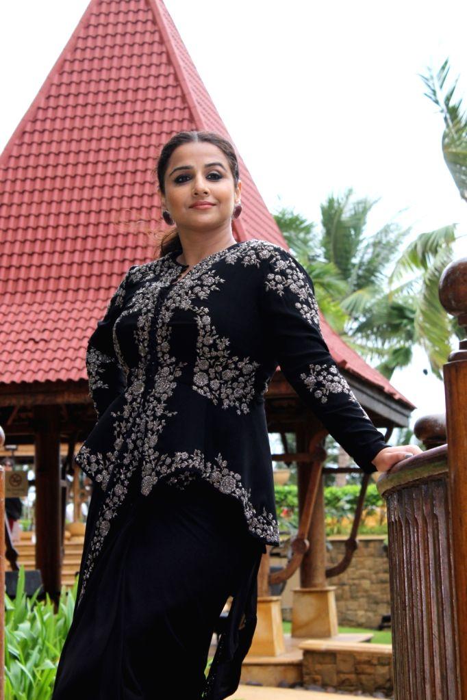 """Actress Vidya Balan during the promotions of her upcoming film """"Mission Mangal"""" in Mumbai on Aug 9, 2019. - Vidya Balan"""