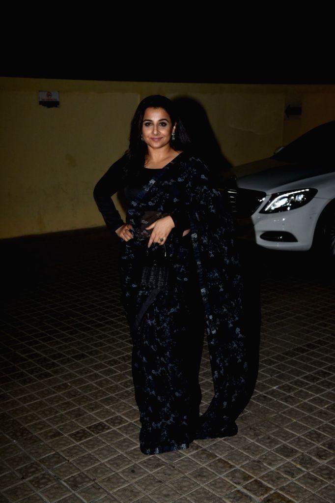 "Actress Vidya Balan during the Screening of film ""photograph"" in Mumbai, on March 13, 2019. - Vidya Balan"