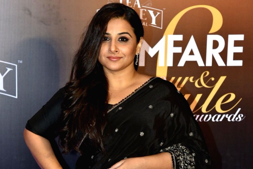 Actress Vidya Balan on the red carpet of Filmfare Glamour And Style Awards 2019, in Mumbai on Feb 11, 2019. - Vidya Balan