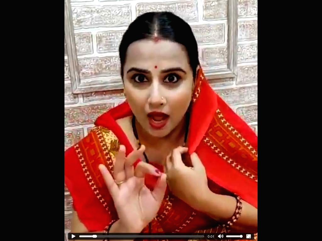 "Actress Vidya Balan seemed to be in a mood of goofing around as she shared a ""time pass"" video of herself lip syncing some ""sanskari gyan"" with a funny twist. In the Instagram ... - Vidya Balan"
