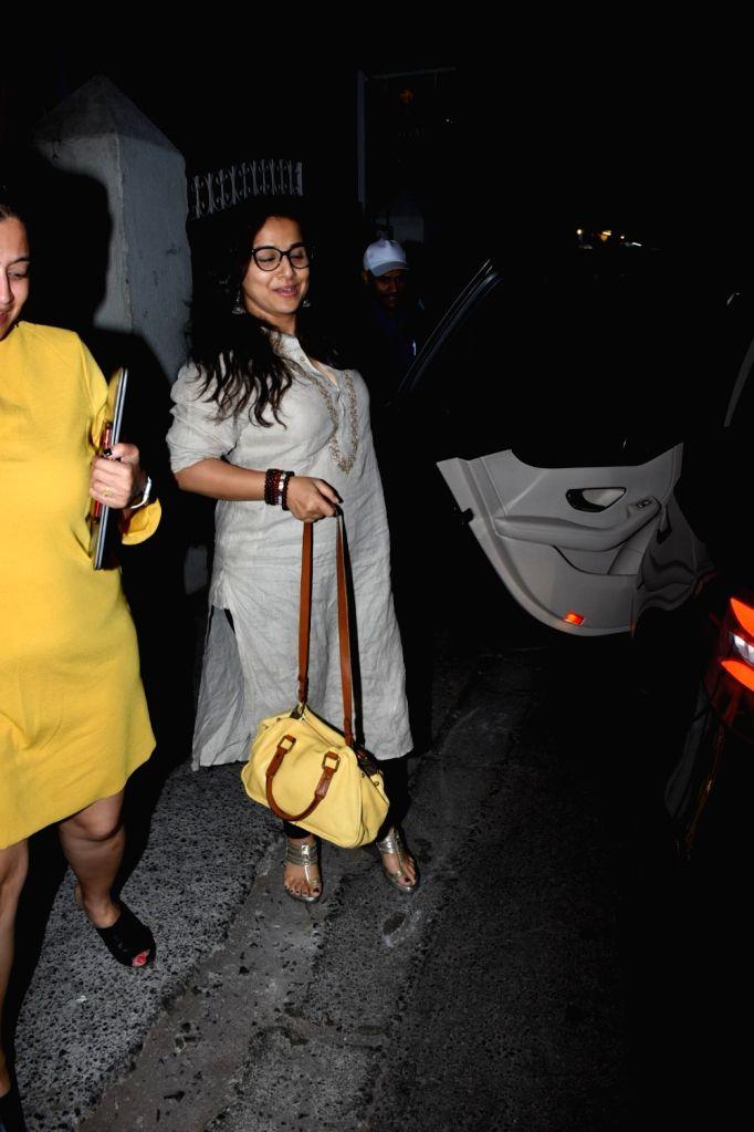 Actress Vidya Balan seen in Mumbai's Bandra, on May 16, 2019. - Vidya Balan