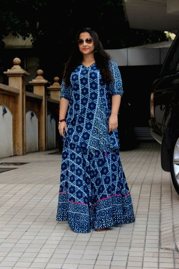 Actress Vidya Balan spotted at outside of Arjun Rampal`s office in Mumbai on June 23, 2017. - Vidya Balan