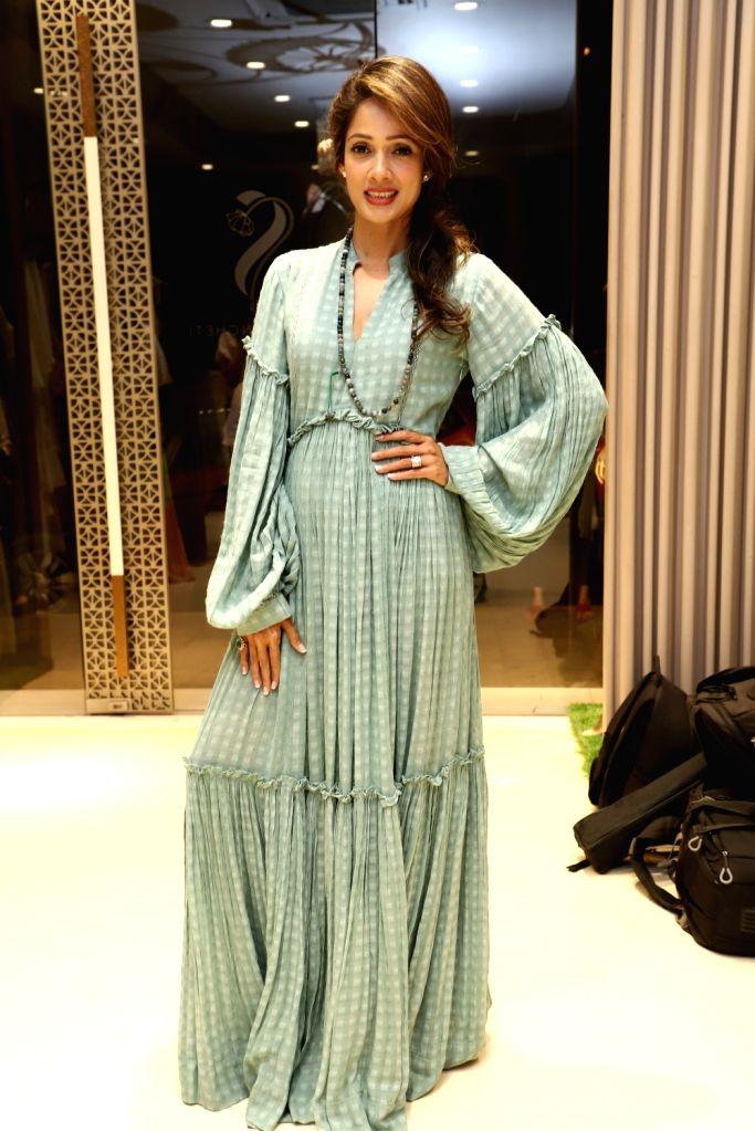 Actress Vidya Malvade at the launch of fashion designer Shruti Sancheti's new apparel collection, in Mumbai on April 25, 2019. - Vidya Malvade