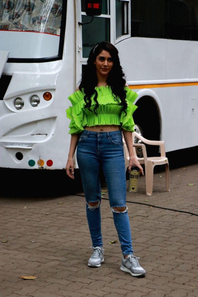 Actress Warina Hussain seen at Bandra in Mumbai on Dec 5, 2019. - Warina Hussain