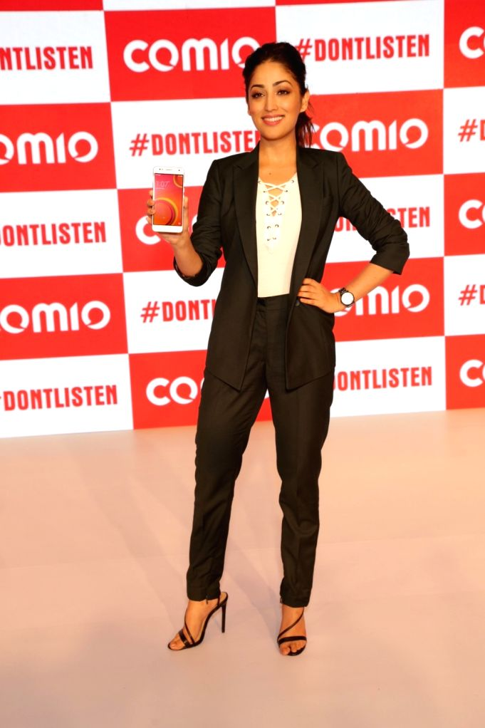 Actress Yami Gautam at the launch of Comio smartphone in New Delhi, on August 18, 2017. - Yami Gautam