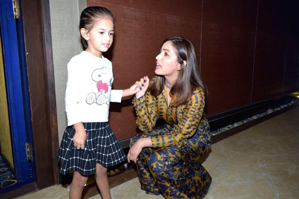 """Actress Yami Gautam at the special screening of her film """"Bala"""" in Mumbai on Nov 11, 2019. - Yami Gautam"""