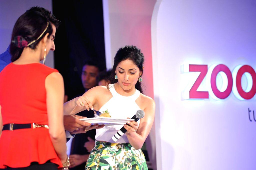 Actress Yami Gautam during Times Food and Fashion show in Mumbai on July 2, 2015. - Yami Gautam