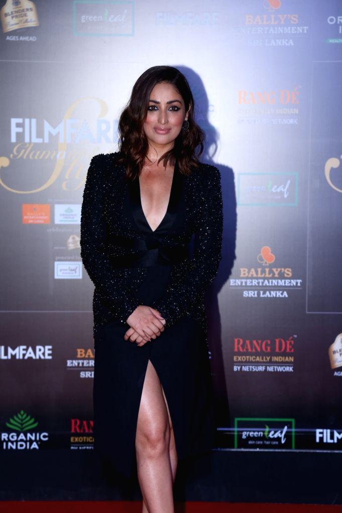 Actress Yami Gautam on the red carpet of Filmfare Glamour And Style Awards 2019 in Mumbai on Dec 3, 2019. - Yami Gautam
