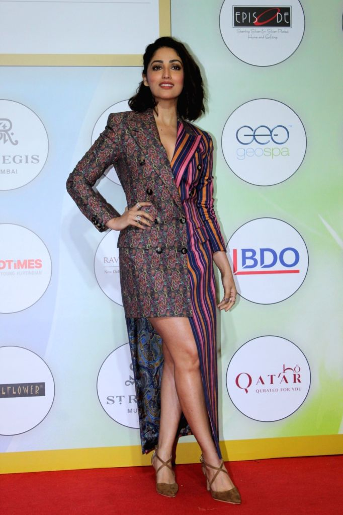 Actress Yami Gautam on the red carpet of the GeoSpa Awards 2019, in Mumbai, on April 24, 2019. - Yami Gautam