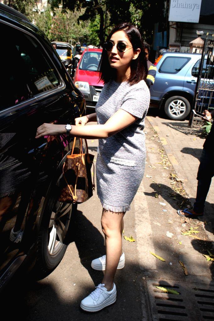 Actress Yami Gautam seen in Mumbai's Bandra, on April 10, 2019. - Yami Gautam
