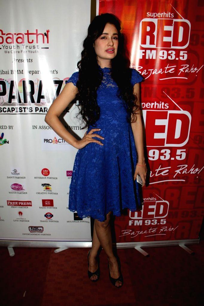 Actress Yuvika Chaudhary  during Paparazzi Festival at Bhaidas Hall, Vile Parle, in Mumbai on Nov 17, 2015.