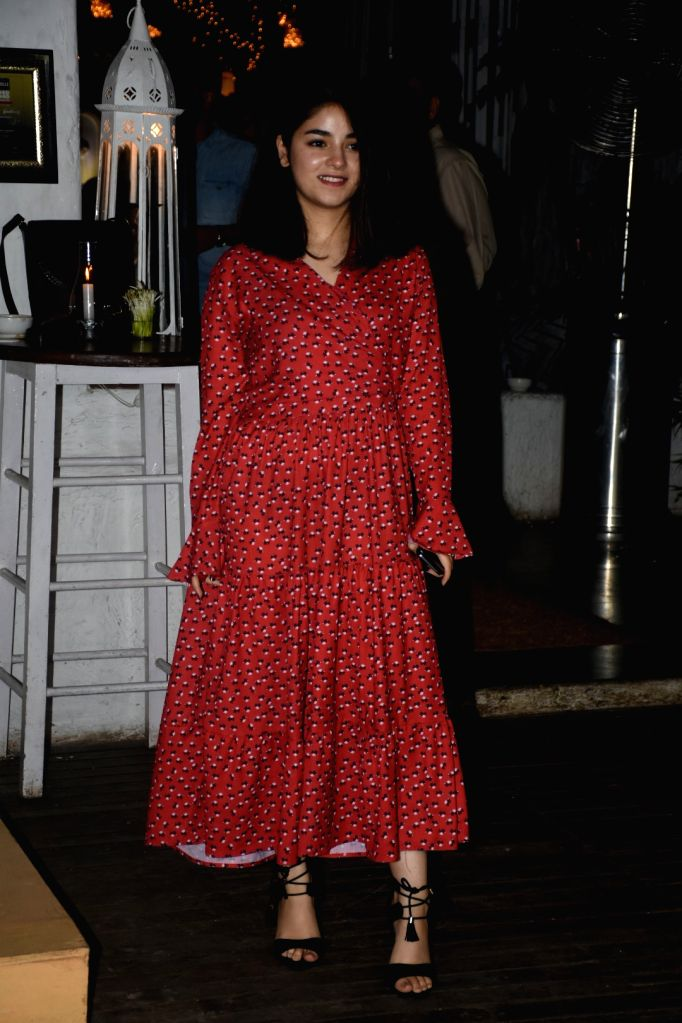 """Actress?Zaira Wasim?at the wrap-up party of her upcoming film """"The?Sky Is Pink"""", in Mumbai on June 11, 2019."""