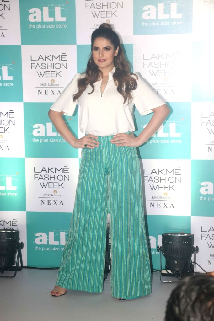 Actress Zareen Khan at the Lakme Fashion Week Plus Size Model Auditions in Mumbai on July 5, 2018. - Zareen Khan