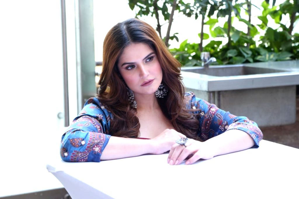 """Actress Zareen Khan during the promotions of her upcoming film """"Daaka"""" in New Delhi on Oct 24, 2019. - Zareen Khan"""