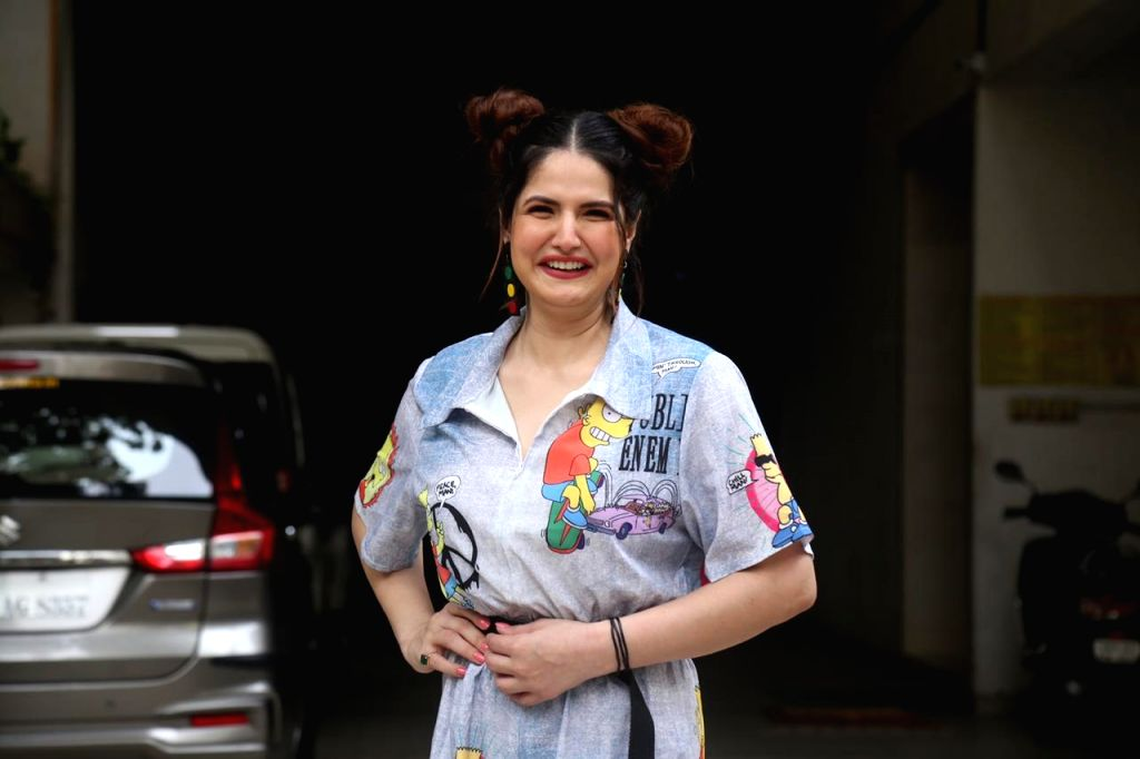 Actress Zareen Khan seen at Bandra in Mumbai on Oct 20, 2020. - Zareen Khan