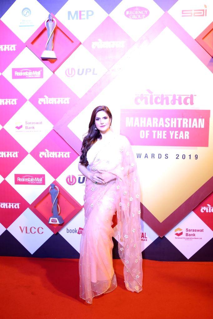 Actress Zarine Khan at the Lokmat Maharashtrian of the Year Awards 2019 in Mumbai, on Feb 20, 2019. - Zarine Khan