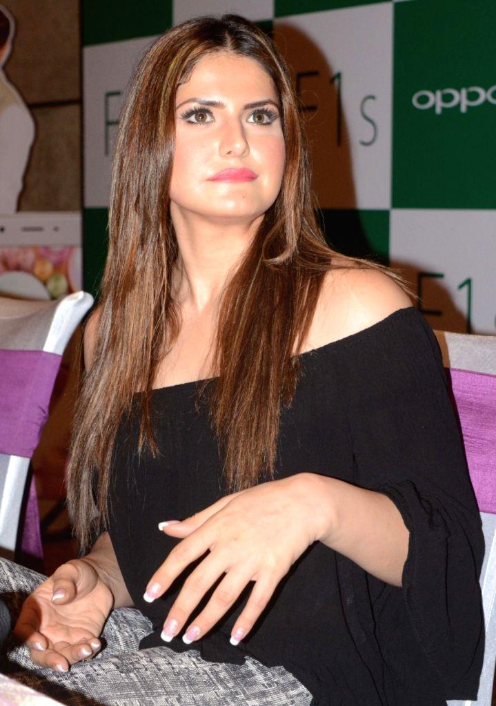 Actress Zarine Khan during a programme in Bhopal on Aug 13, 2016. - Zarine Khan