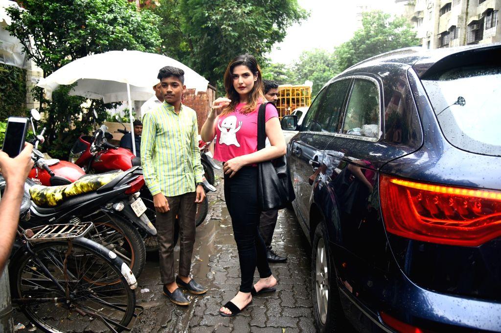 Actress Zarine Khan seen at Mumbai's Bandra on July 24, 2018. - Zarine Khan