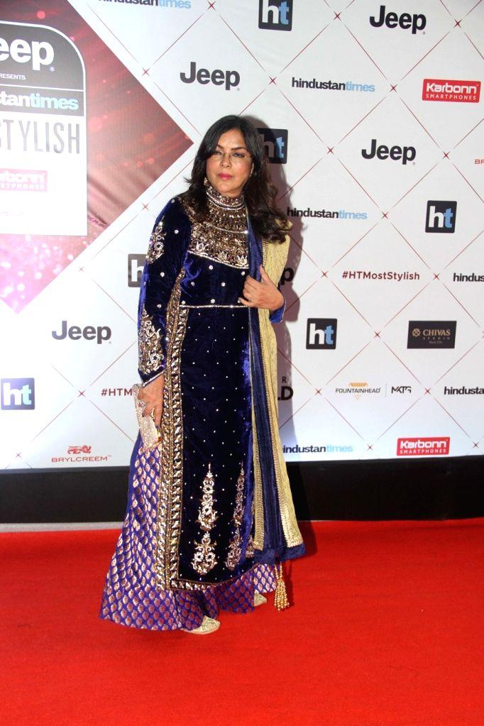 "Actress Zeenat Aman at the red carpet of ""HT India's Most Stylish Awards"" in Mumbai on Jan 24, 2018. - Zeenat Aman"