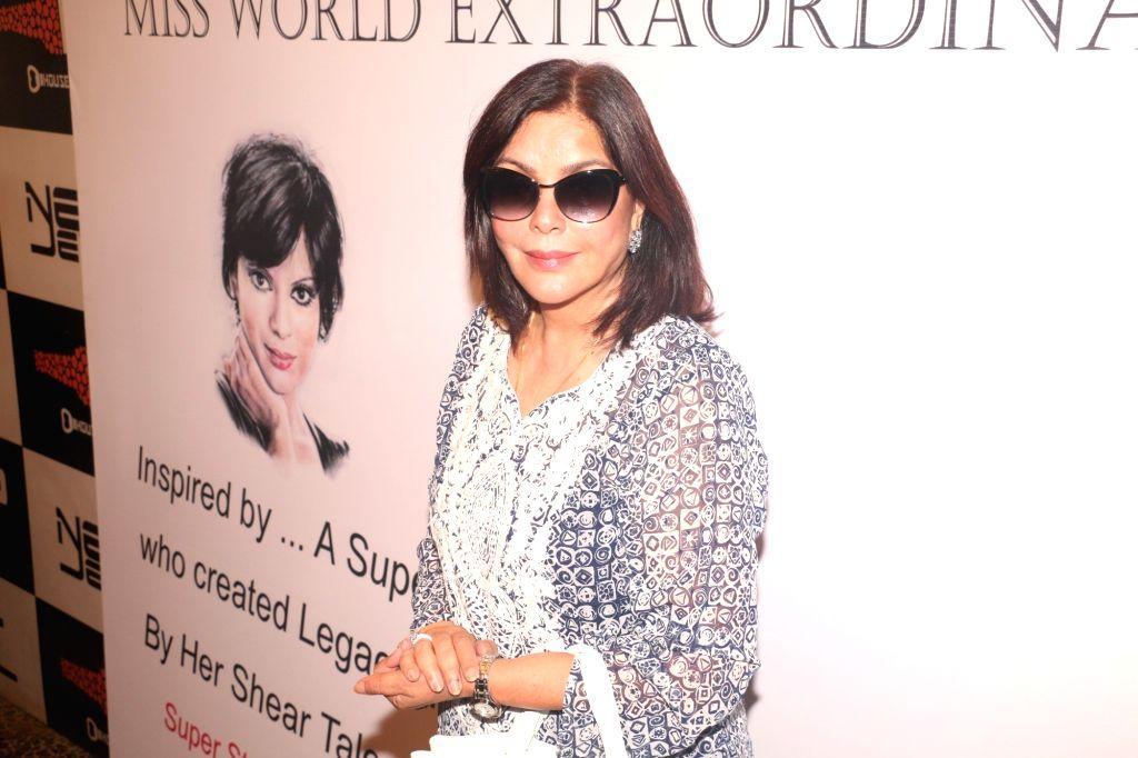 Actress Zeenat Aman during a programme organised to celebrate International Women's Day in Mumbai on March 8, 2019. - Zeenat Aman