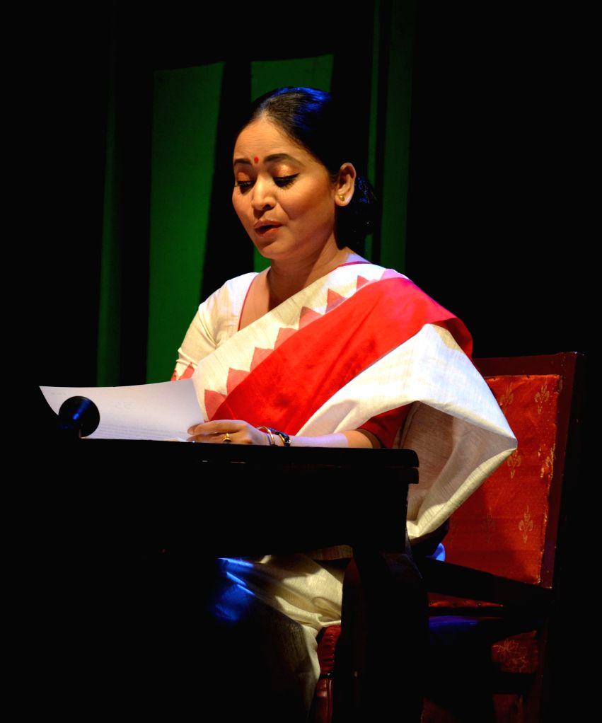 "Actress Zerifa Wahid enacting a  play ""Moromor bondhu..."" (An adaption of A.R. Gurney's 'Love Letters')  at Rabindra Bhawan in Guwahati on July 25, 2014. - Zerifa Wahid"
