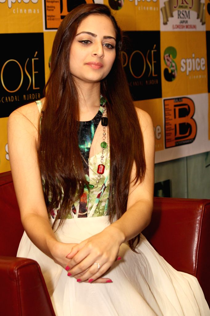 Actress Zoya Afroz during an event organised to promote her upcoming film `The Xpose` at a shopping mall in Noida on May 9, 2014. - Zoya Afroz
