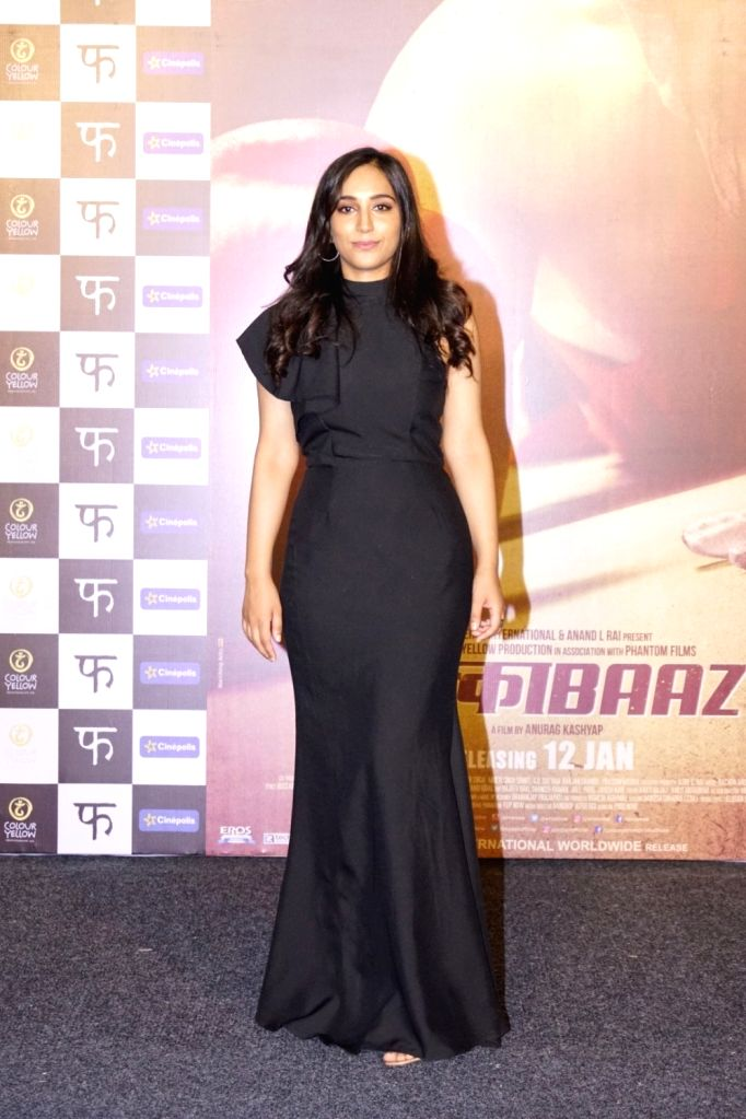 "Actress Zoya Hussain at the trailer launch of her upcoming film ""Mukkabaaz"" in Mumbai on Dec 7, 2017. - Zoya Hussain"