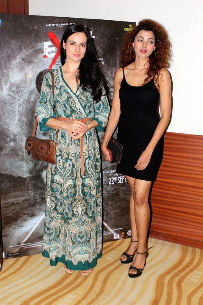 "Actresses Ananya Sengupta and Elena Kazan duirng the press conference of film ""The Final Exit"" in Mumbai on Sept 12, 2017. - Ananya Sengupta and Elena Kazan"