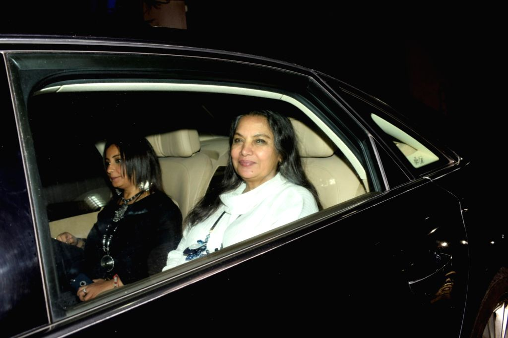 "Actresses Divya Dutta and Shabana Azmi at the special screening of upcoming film ""Soorma"" in Mumbai on July 11, 2018. - Divya Dutta and Shabana Azmi"
