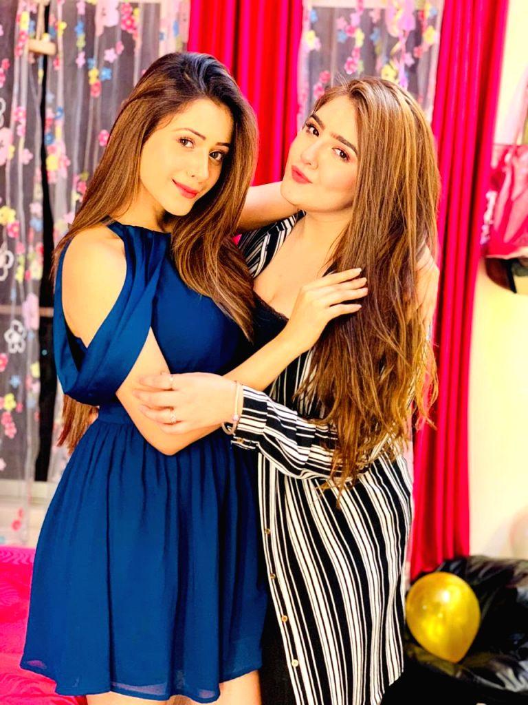 Actresses Hiba Nawab and Raashi Bawa. - Hiba Nawab and Raashi Bawa